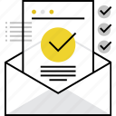 confirmation, contract, document, information, letter, mail, message icon