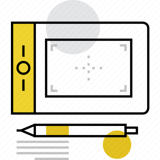 controller, device, digital, drawing, graphic, pad, tablet icon