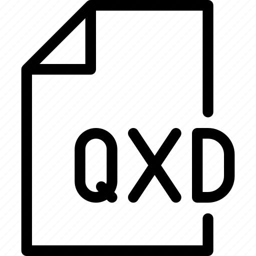 design, document, file, paper, qxd icon