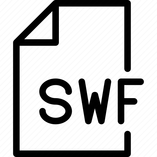 design, document, file, paper, swf icon