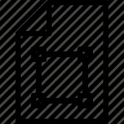 design, document, file, paper, shape icon
