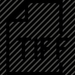 design, document, file, paper, tiff icon