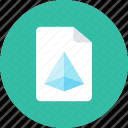 3d, file icon