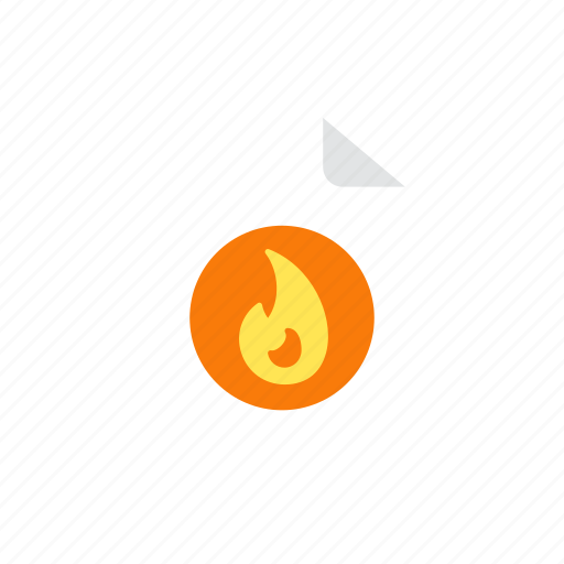 file, hot icon