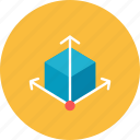 3d, grid icon
