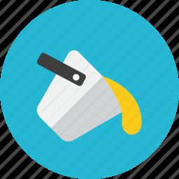 bucket, color icon