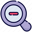 zoom out, magnifier, zoom, view, glass, search, magnifying