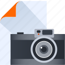 camera, design, paper, photo, photograaphy, thinking icon