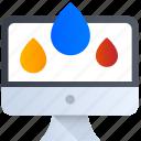 thinking, design, drop, management, color, computer icon