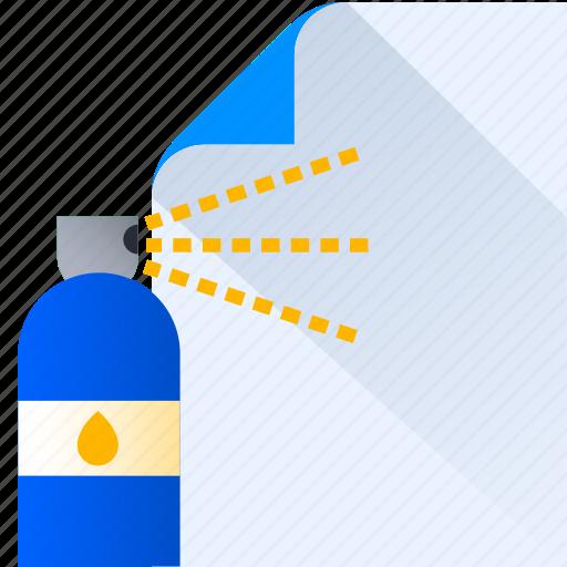 color, design, idea, paper, spray, thinking icon