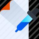 thinking, design, paper, color, eyedrop, idea icon