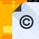 thinking, design, paper, think, copyright, idea icon