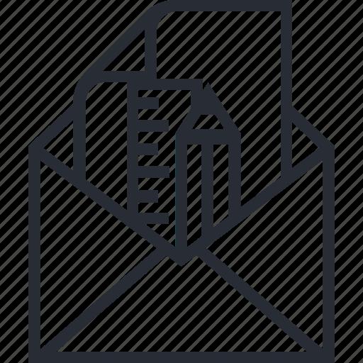computer, design, idea, mail, paper, think icon