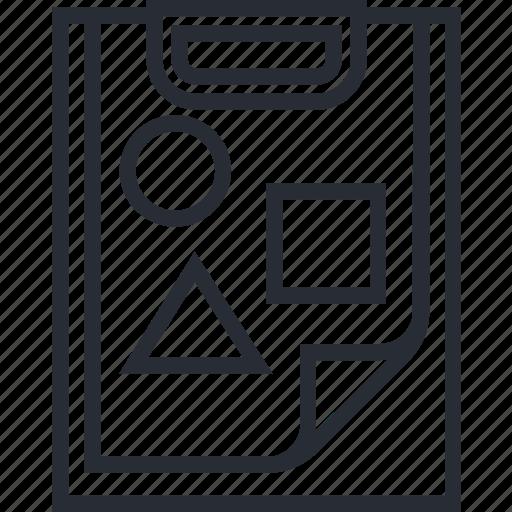 computer, design, idea, image, paper, think icon