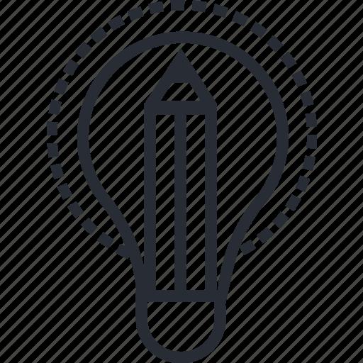 computer, design, idea, ideas, paper, think icon