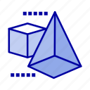 3d, box, model, triangle icon