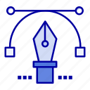 education, pen, pencil, text icon