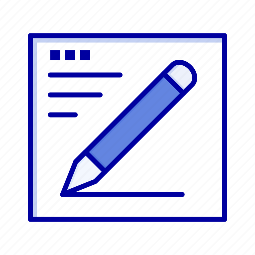 browser, education, pencil, text icon