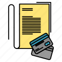 cards, credit, note, notebook icon