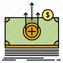 dollar, medical, money, transfer icon