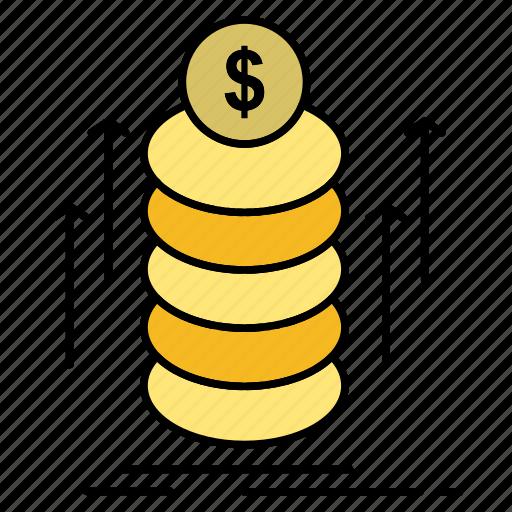 Bundle, coins, money, transfer icon - Download on Iconfinder