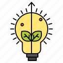 bulb, idea, light, success icon