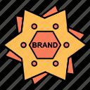 brand, branding, logo, shape, star