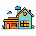 farm, home, house, space, villa icon