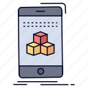 3d, box, cube, product, smartphone icon
