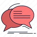bubble, chat, communication, speech, talk icon