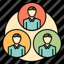 circle, clone, gang, staff