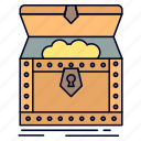box, chest, gold, reward, treasure icon