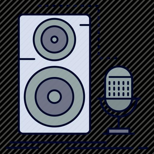 live, mic, microphone, record, sound icon