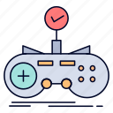 check, controller, game, gamepad, gaming icon