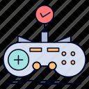 check, controller, game, gamepad, gaming
