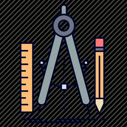 build, design, geometry, math, tool icon