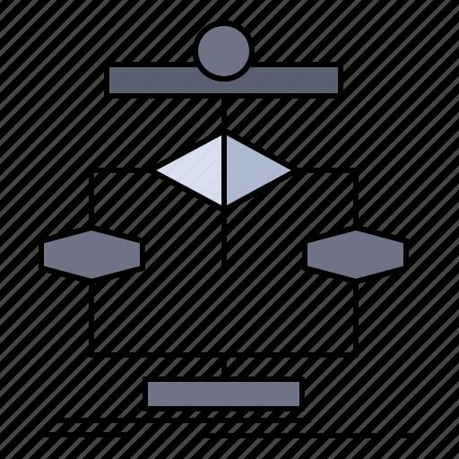algorithm, chart, data, diagram, flow icon