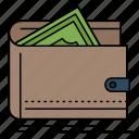 cash, finance, money, personal, purse icon