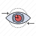 business, eye, marketing, plan, vision icon