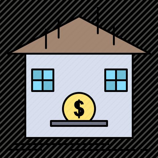 bank, deposit, refund, safe, savings icon
