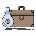 briefcase, business, case, open, portfolio