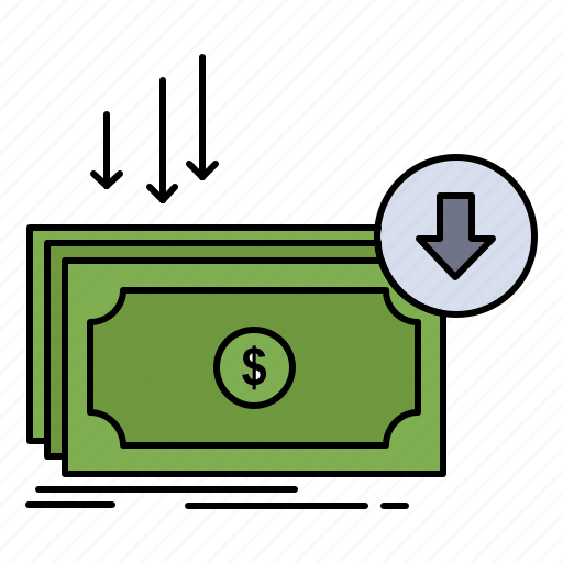 business, cost, cut, expense, finance, money icon