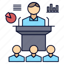 business, conference, convention, presentation, seminar icon