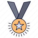 award, honor, medal, rank, reputation, ribbon