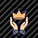 crown, honor, king, market, royal icon