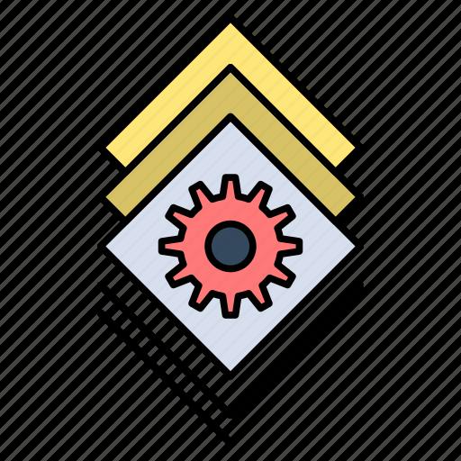 Bundle, gear, server, setting icon - Download on Iconfinder