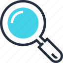 explore, find, glass, magnifying, search, tool, zoom icon