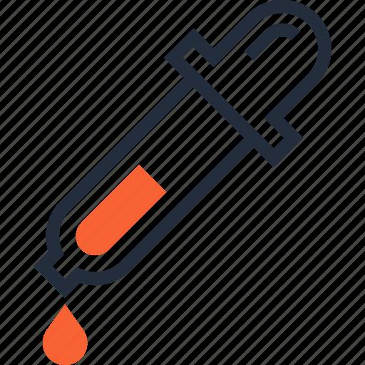 color, dropper, eyedropper, medicine, picker, pipette, tool icon