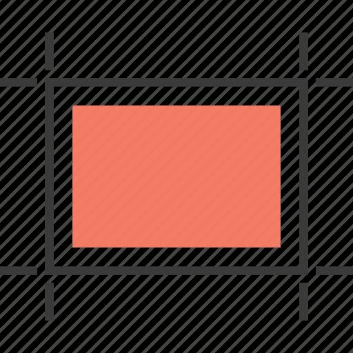 area, design, rectangle, select icon