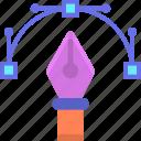 anchor, anchor point, pen, point, vector icon
